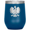 Polish Eagle Insulated Wine Tumbler With Lid - Blue - Polish Shirt Store