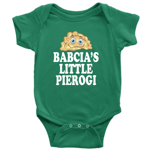 Babcia's Little PIerogi - Baby Onesie / Grass Green / NB - Polish Shirt Store