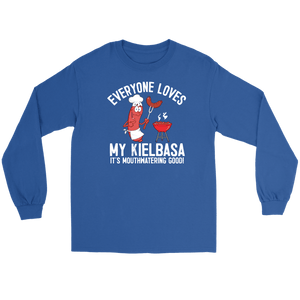 Everyone Loves My Kielbasa - Kielbasa Festival - Gildan Long Sleeve Tee / Royal / S - Polish Shirt Store