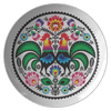 Polish Wycinanki Rooster Design Dinner Plate - Single Plate - Polish Shirt Store