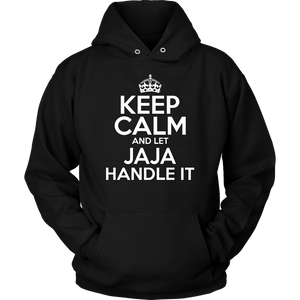 Keep Calm And Let JaJa Handle It - Unisex Hoodie / Black / S - Polish Shirt Store