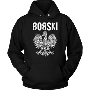 808SKI Hawaii Polish Pride - Unisex Hoodie / Black / S - Polish Shirt Store