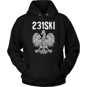 Michigan Polish Pride - 231 Area Code - Unisex Hoodie / Black / S - Polish Shirt Store