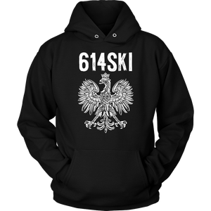 Columbus Ohio - 614 Area Code - Polish Pride - Unisex Hoodie / Black / S - Polish Shirt Store