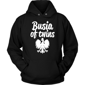 Busia of Twins Gift - Unisex Hoodie / Black / S - Polish Shirt Store