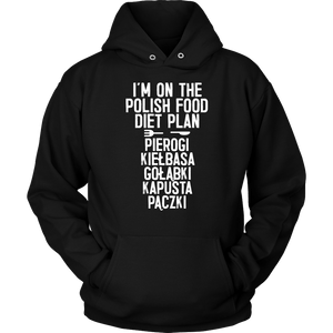 I'm On The Polish Food Diet Plan - Unisex Hoodie / Black / S - Polish Shirt Store