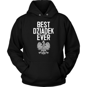 Best Dziadek Ever Polish Eagle Gift - Unisex Hoodie / Black / S - Polish Shirt Store