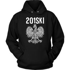 New Jersey Polish Pride - Area Code 201 - Unisex Hoodie / Black / S - Polish Shirt Store