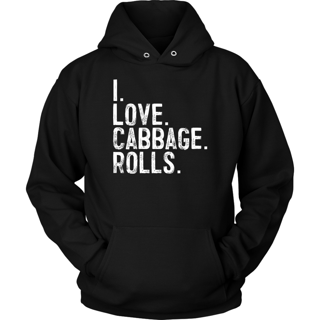 I Love Cabbage Rolls - Unisex Hoodie / Black / S - Polish Shirt Store