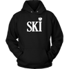 Polish Surnames Ski - Unisex Hoodie / Black / S - Polish Shirt Store