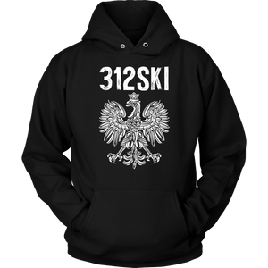 312SKI Illinois Polish Proud - Unisex Hoodie / Black / S - Polish Shirt Store