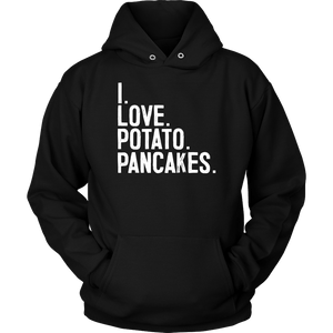 I Love Potato Pancakes - Unisex Hoodie / Black / S - Polish Shirt Store