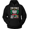 IRISKI Polish Irish Mix - Unisex Hoodie / Black / S - Polish Shirt Store