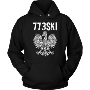 773SKI Chicago Polish Pride - Unisex Hoodie / Black / S - Polish Shirt Store