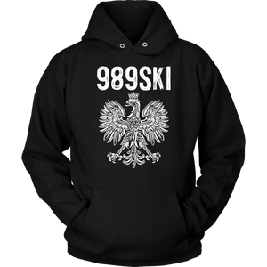 989SKI Saginaw Michigan, Polish Pride - Unisex Hoodie / Black / S - Polish Shirt Store