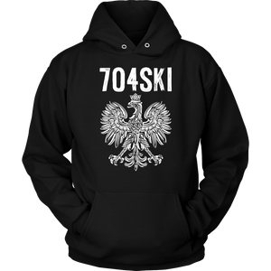 704SKI North Carolina Polish Pride - Unisex Hoodie / Black / S - Polish Shirt Store
