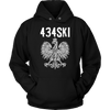 434SKI Virginia Polish Pride - Unisex Hoodie / Black / S - Polish Shirt Store