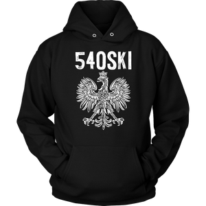 540SKI Virginia Polish Pride - Unisex Hoodie / Black / S - Polish Shirt Store