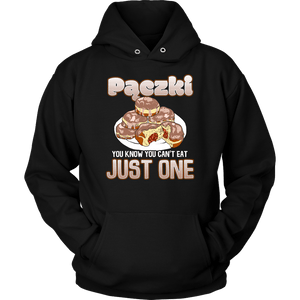 Pączki You Know Can't Eat Just One - Unisex Hoodie / Black / S - Polish Shirt Store