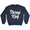Pierogi King Gifts For Polish Dad - Crewneck Sweatshirt / Navy / S - Polish Shirt Store