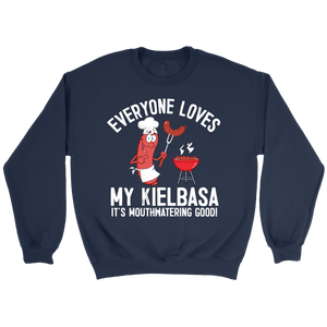 Everyone Loves My Kielbasa - Kielbasa Festival - Crewneck Sweatshirt / Navy / S - Polish Shirt Store