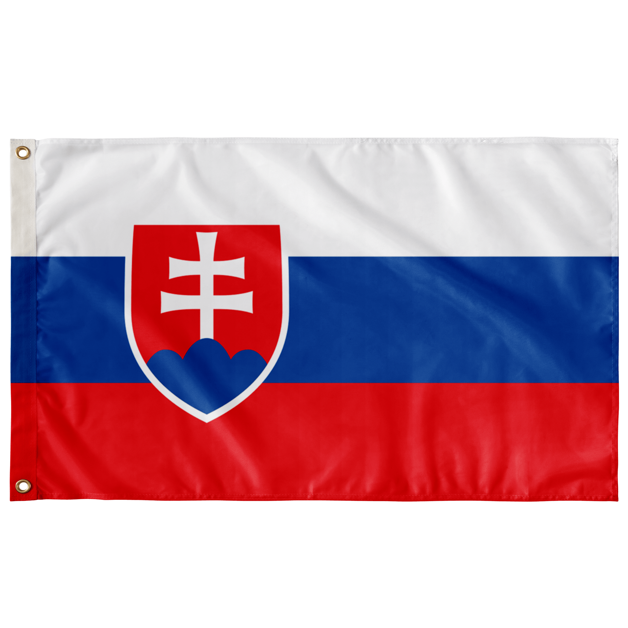 "The Flag Of Slovakia - Indoor Wall Flag - Wall Flag - 36""x60"" - Polish Shirt Store"