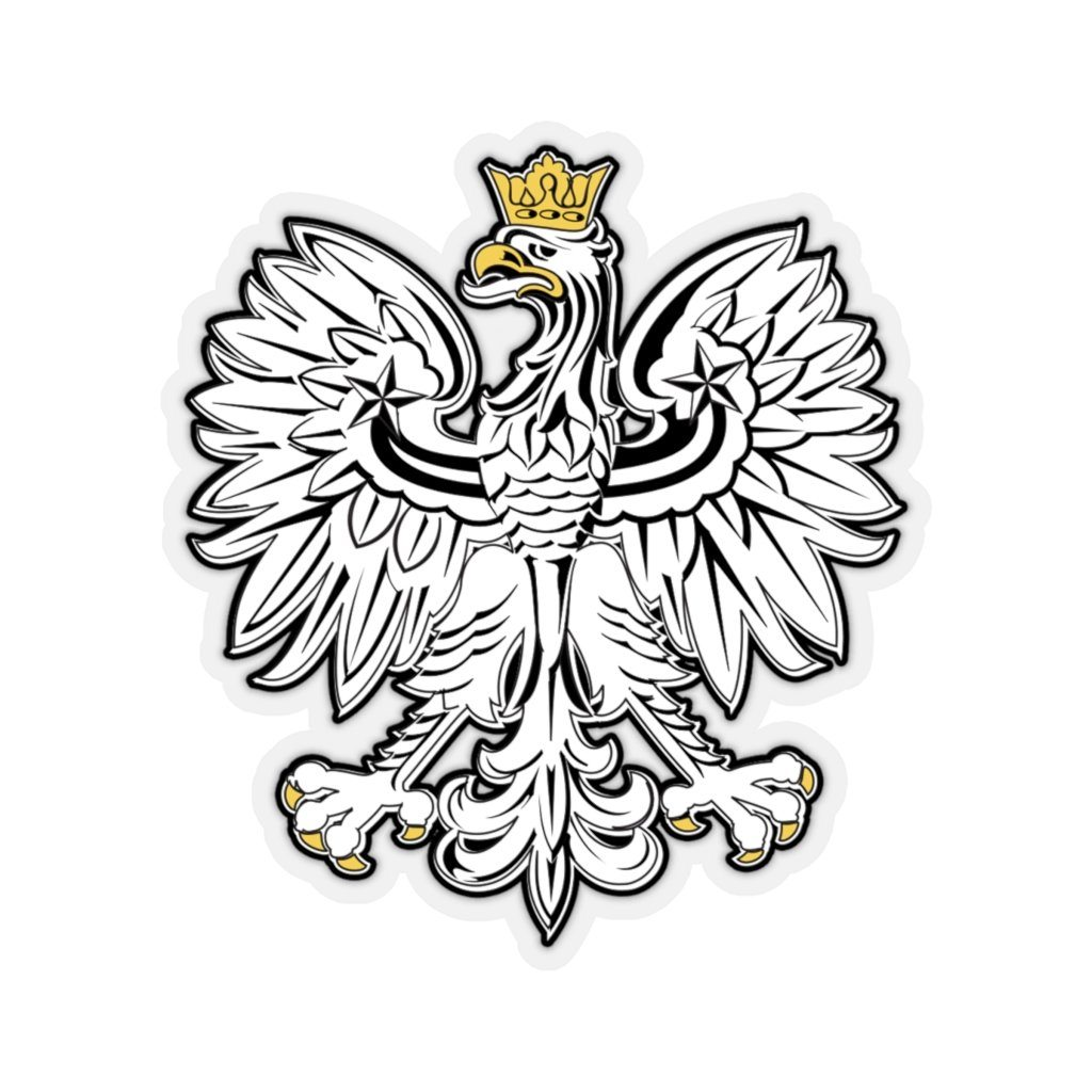 "Polish Eagle Sticker - 4x4"" / Transparent - Polish Shirt Store"