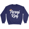 Pierogi King Gifts For Polish Dad - Crewneck Sweatshirt / Purple / S - Polish Shirt Store