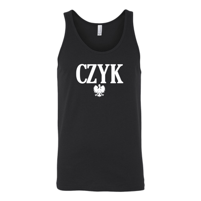 Polish Surnames ending in CZYK - Canvas Unisex Tank / Black / S - Polish Shirt Store