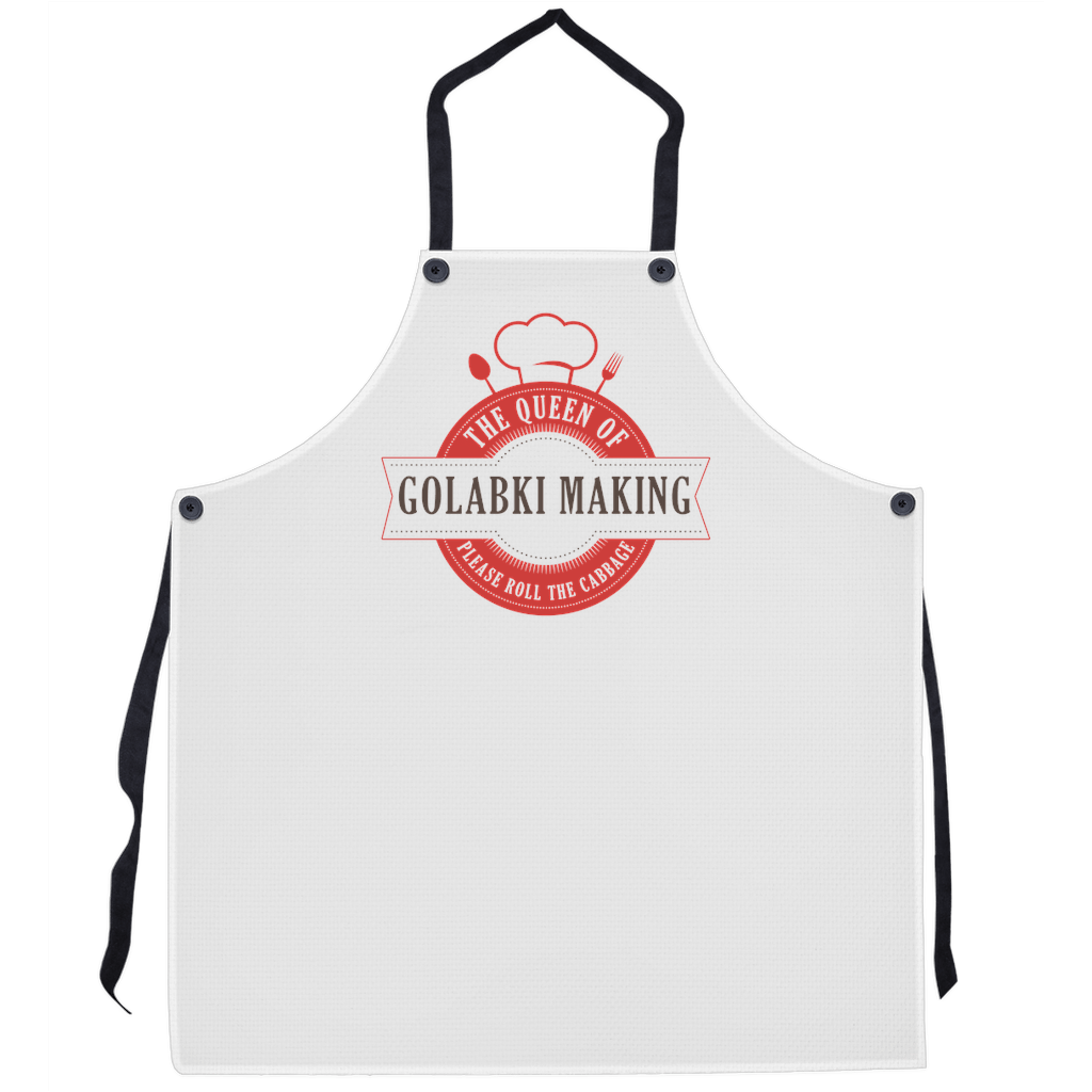 The Queen Of Golabki Making Premium Kitchen Apron - 29.5x32 inch - Polish Shirt Store