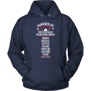 Powered By The Seven Polish Food Groups - Unisex Hoodie / Navy / S - Polish Shirt Store