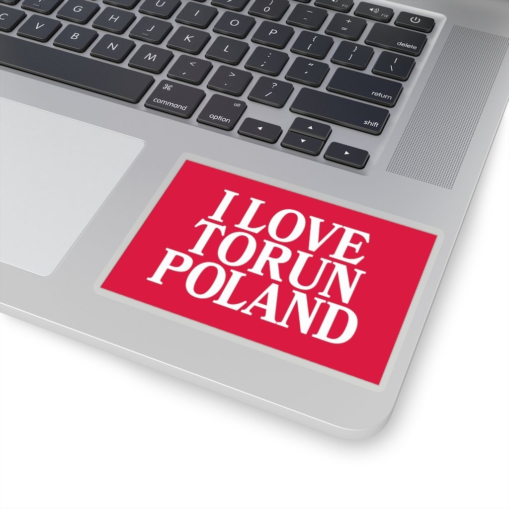 "I Love Torun Poland Sticker - 4x4"" / Transparent - Polish Shirt Store"