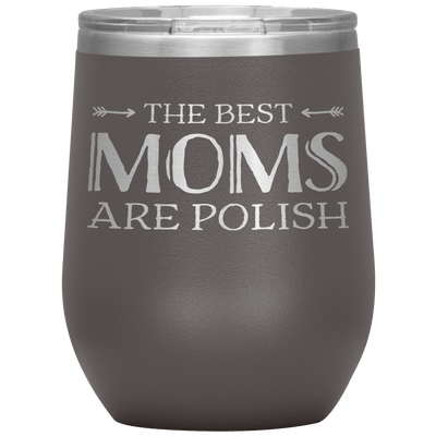 Polish Mothers Day Wine Tumbler Gift - Pewter - Polish Shirt Store