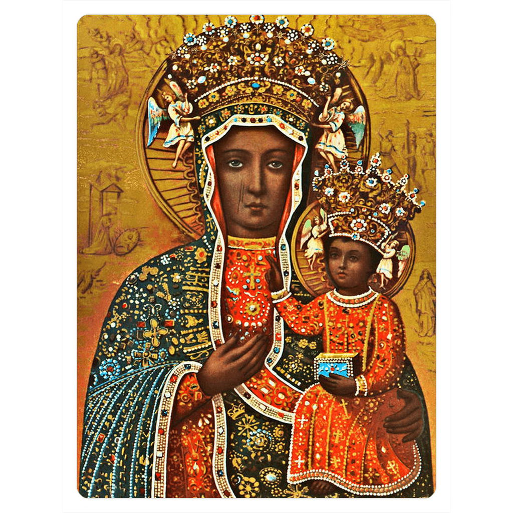 Black Madonna of Czestochowa Fridge Magnets - 3x4 inch - Polish Shirt Store