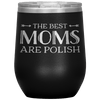 Polish Mothers Day Wine Tumbler Gift - Black - Polish Shirt Store