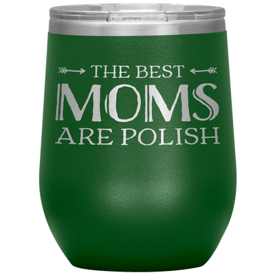 Polish Mothers Day Wine Tumbler Gift - Green - Polish Shirt Store