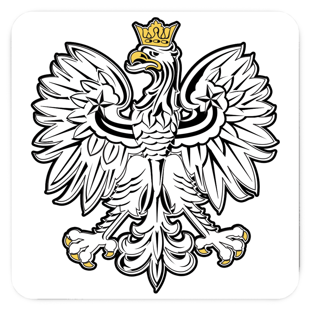Polish White Eagle Fridge Magnets - 3x3 inch - Polish Shirt Store