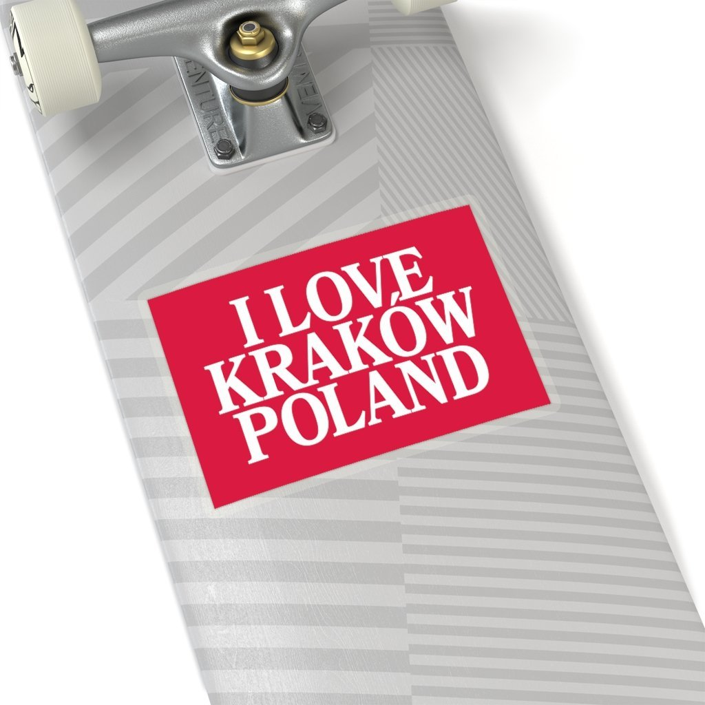 "I Love Krakow Poland Sticker - 6x6"" / Transparent - Polish Shirt Store"