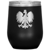 Polish Eagle Insulated Wine Tumbler With Lid - Black - Polish Shirt Store