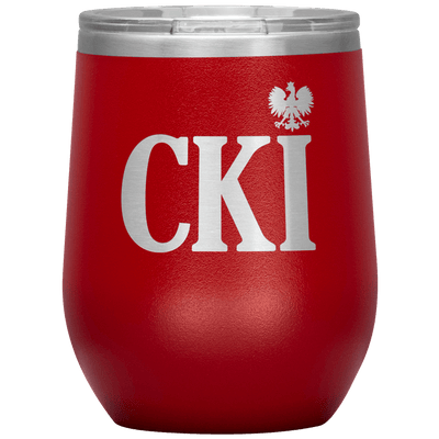 Polish Surname Ending in CKI Wine Tumbler - Red - Polish Shirt Store