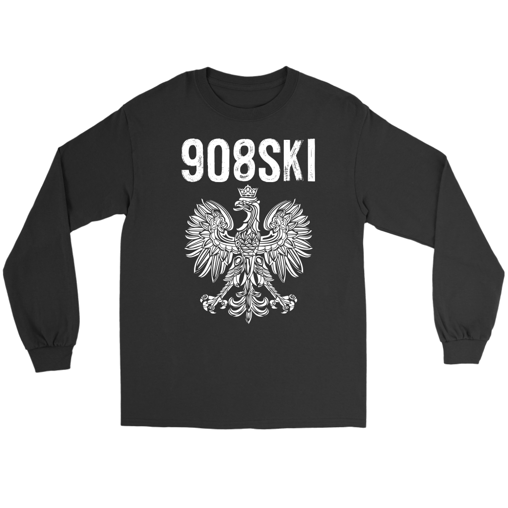 908SKI Pennsylvania Polish Pride - Gildan Long Sleeve Tee / Black / S - Polish Shirt Store