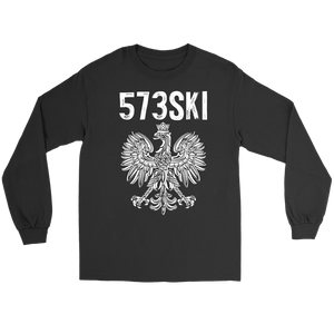 573SKI Missouri Polish Pride - Gildan Long Sleeve Tee / Black / S - Polish Shirt Store