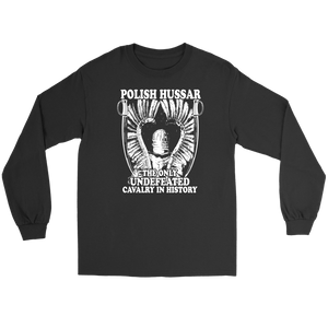 Polish Hussar - Gildan Long Sleeve Tee / Black / S - Polish Shirt Store