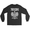 765SKI Indiana Polish Pride - Gildan Long Sleeve Tee / Black / S - Polish Shirt Store