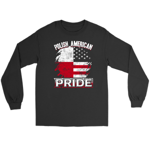 Polish American Pride - Gildan Long Sleeve Tee / Black / S - Polish Shirt Store