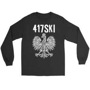 417SKI Missouri Polish Pride - Gildan Long Sleeve Tee / Black / S - Polish Shirt Store