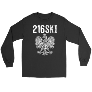 Cleveland Ohio - 216 Area Code - 216SKI - Gildan Long Sleeve Tee / Black / S - Polish Shirt Store