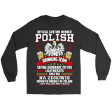 Polish Drinking Team Saying Dobranoc To You Lightweights - Polish Shirt Store