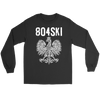 804SKI Virginia Polish Pride - Gildan Long Sleeve Tee / Black / S - Polish Shirt Store