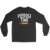 Pierogi Time T-Shirt - Gildan Long Sleeve Tee / Black / S - Polish Shirt Store